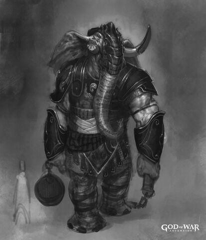 File:Elephantaur with mace concept art.jpg