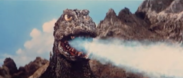 File:All Monsters Attack - Godzilla fires at Giant Condor.png
