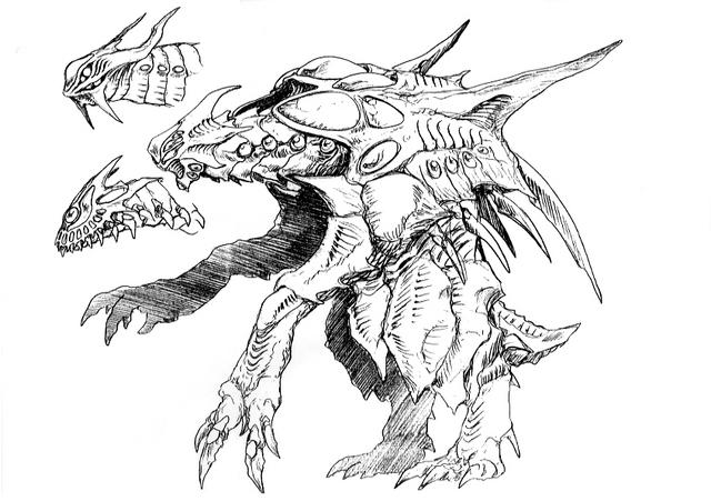 File:Concept Art - Godzilla 2000 Millennium - Orga 32.png