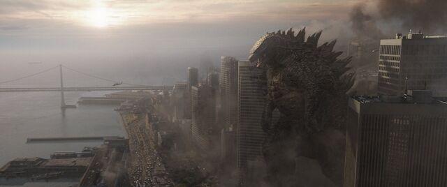 File:G14 - Godzilla Walking Towards the Ocean.jpg