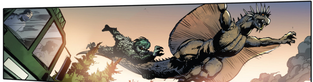File:RULERS OF EARTH Issue 5 - 6 - Varan carries off Gaira.png