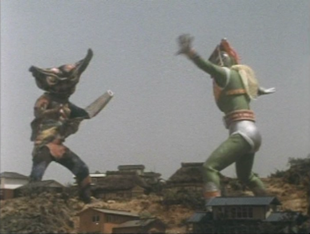 File:Go! Greenman - Episode 3 Greenman vs. Gejiru - 28 - Looks more like a dance battle.png