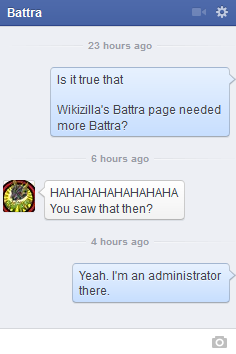 File:Proof the one who vandalized the Battra page was the Battra Facebook page admin.png