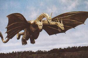 The HeiseiGhido as it is seen in Godzilla vs. King Ghidorah