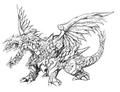 Concept Art - Rebirth of Mothra - Desghidorah 9