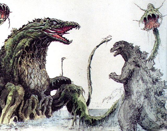 Dibujos Godzilla Raids Again 1955 Para Colorear: Godzilla Vs. Biollante