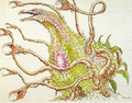 Concept Art - Godzilla vs. Biollante - Biollante 5