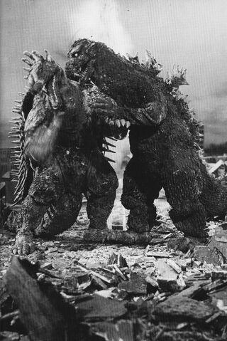 File:GRA - Godzilla Pushing Anguirus.jpg