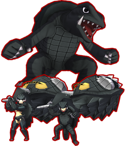 File:Gamera vs. Mon Gear Gamera.png