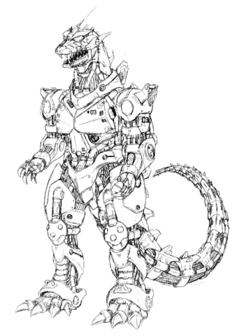 File:Concept Art - Godzilla Against MechaGodzilla - Kiryu 38.png