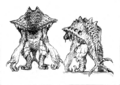 Concept Art - Godzilla 2000 Millennium - Orga 107