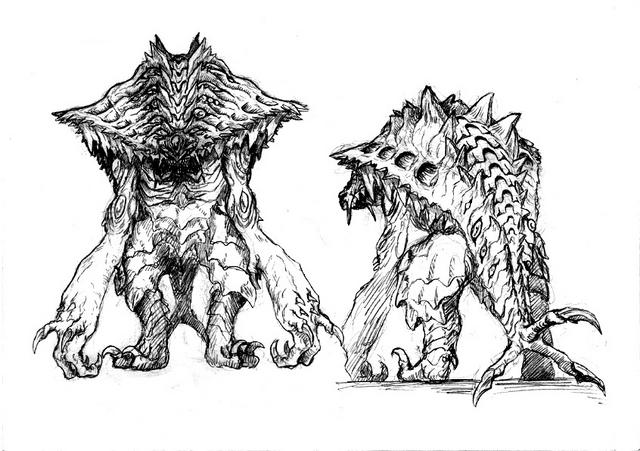 File:Concept Art - Godzilla 2000 Millennium - Orga 107.png