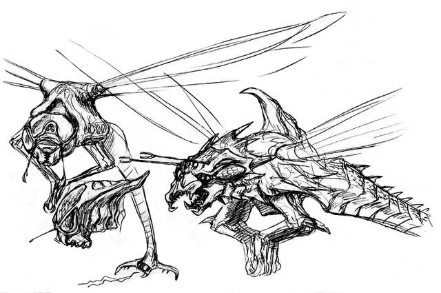 File:Concept Art - Godzilla vs. Megaguirus - Meganula 2.png