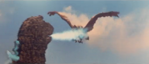 All Monsters Attack - Giant Condor is burning alive