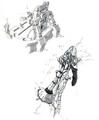 Concept Art - Godzilla Final Wars - Gotengo Controls 4
