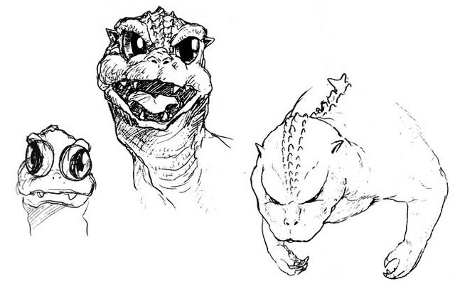 File:Concept Art - Godzilla vs. MechaGodzilla 2 - Baby Godzilla Head 2.png