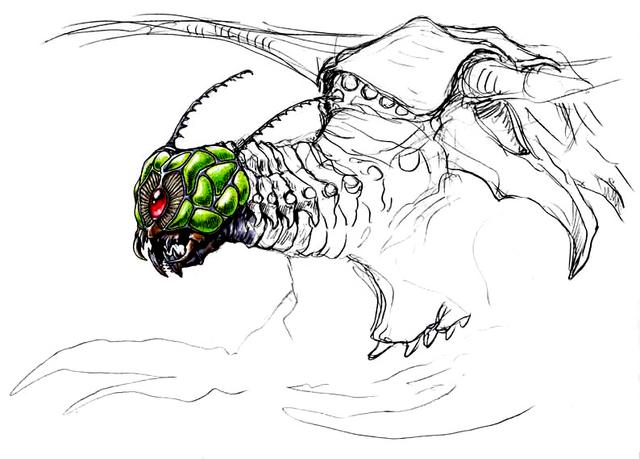 File:Concept Art - Godzilla vs. Megaguirus - Megaguirus 8.png