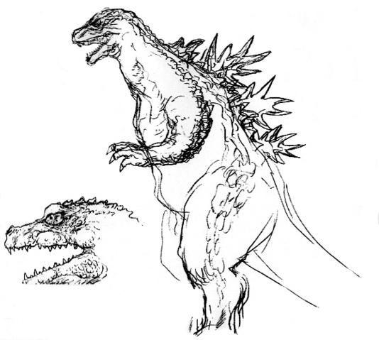 File:Concept Art - Godzilla 2000 Millennium - Godzilla 17.png