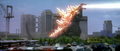 Godzilla vs. Megaguirus - Godzilla fires atomic breath