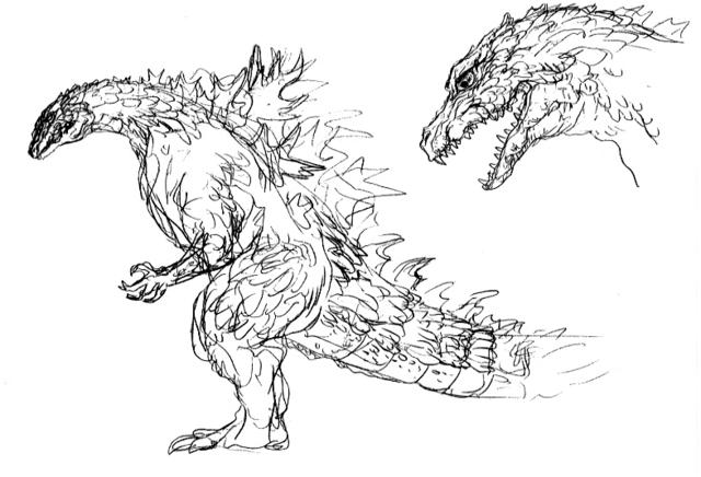 File:Concept Art - Godzilla 2000 Millennium - Godzilla 22.png