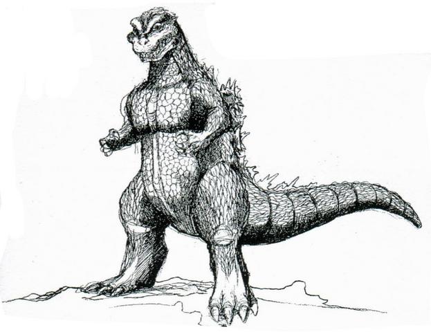 File:Concept Art - Godzilla vs. Destoroyah - Godzilla Junior 20.png