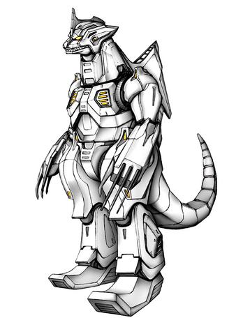File:Concept Art - Godzilla Against MechaGodzilla - Kiryu 34.png