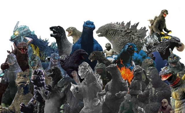 File:Godzilla's many faces.png