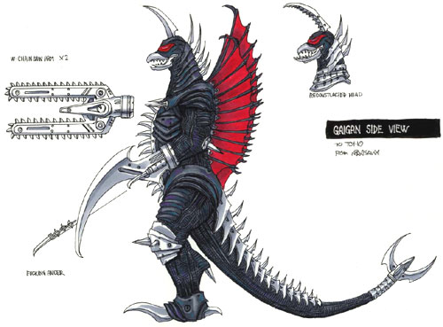 File:Concept Art - Godzilla Final Wars - Modified Gigan 1.png