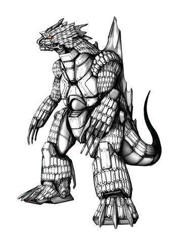 File:Concept Art - Godzilla Against MechaGodzilla - Kiryu 31.png