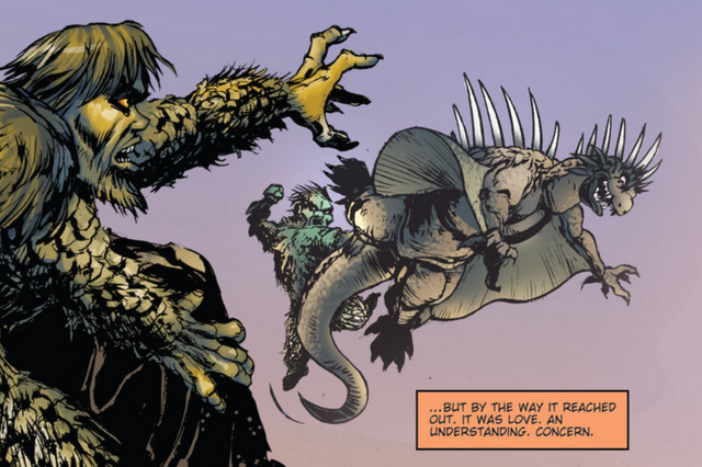 File:RULERS OF EARTH Issue 5 - 7 - Sanda was worried for his brother Gaira who was carried off to sea by Varan.png