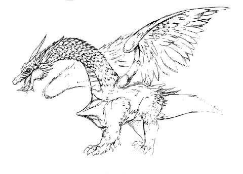 File:Concept Art - Rebirth of Mothra - Desghidorah 4.png