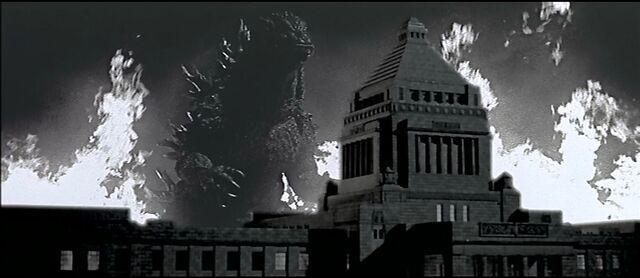 File:Godzilla vs. Megaguirus-Godzilla approach National Diet Building.jpg
