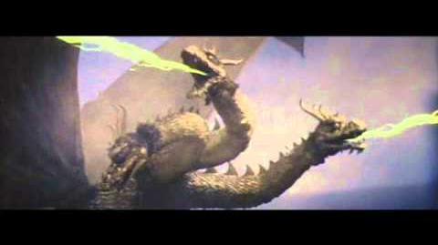 King Ghidorah Showa Roars