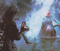 Godzilla vs rose Biollante