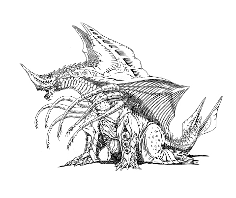 File:Concept Art - Rebirth of Mothra 2 - Dagahra 15.png