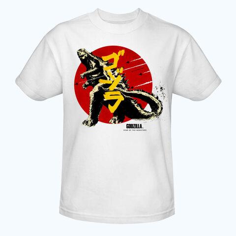 File:Godzilla 2014 Merchandise - Clothes - Godzilla Red Sun White Shirt.jpg