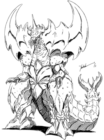 File:Concept Art - Godzilla vs. Destoroyah - Destoroyah 4.png