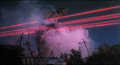 Queen legion's laser tendrils striking Gamera - 3