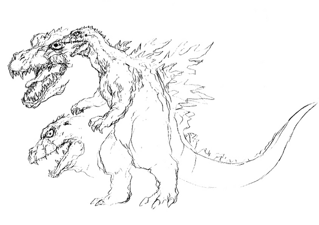 File:Concept Art - Godzilla 2000 Millennium - Godzilla 13.png