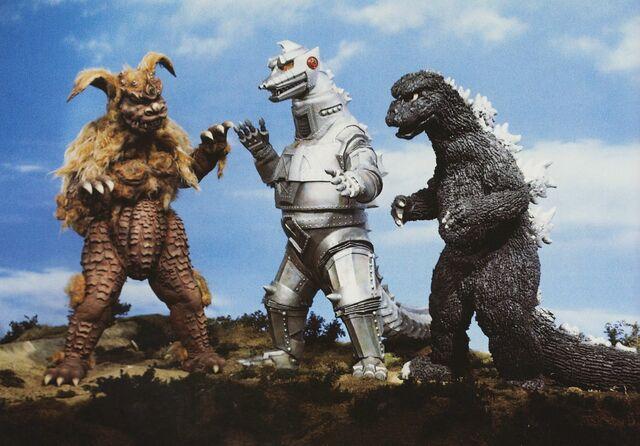 File:GVMG - Godzilla and King Caesar vs. MechaGodzilla.jpg