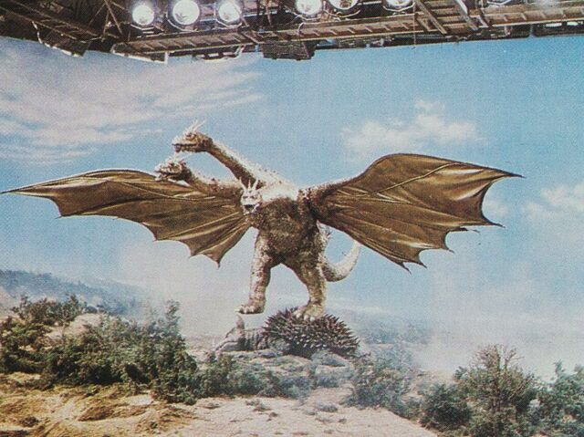 File:DAM - King Ghidorah and Tooken Down Anguirus On Set.jpg