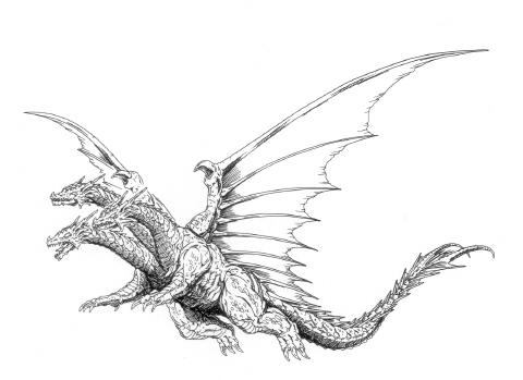 File:Concept Art - Rebirth of Mothra - Desghidorah 22.png