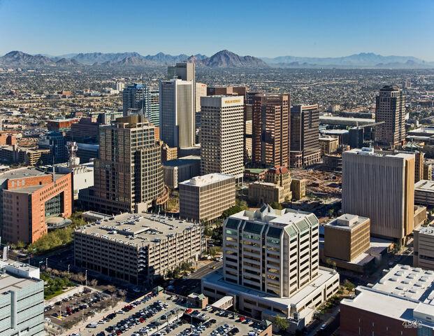 File:Downtown Phoenix Aerial Looking Northeast.jpg