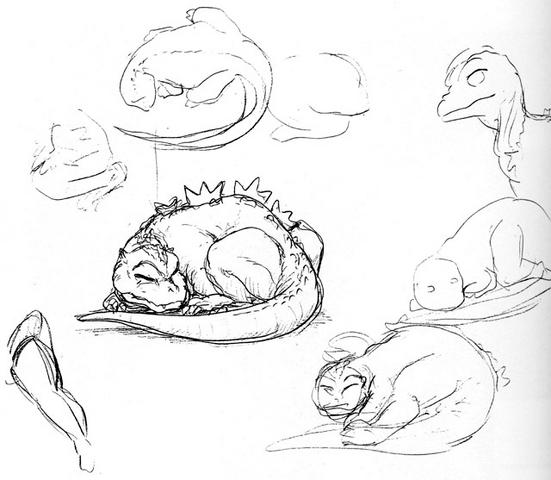 File:Concept Art - Godzilla vs. MechaGodzilla 2 - Baby Godzilla 5.png