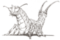 Concept Art - Godzilla vs. Mothra - Battra Larva 3