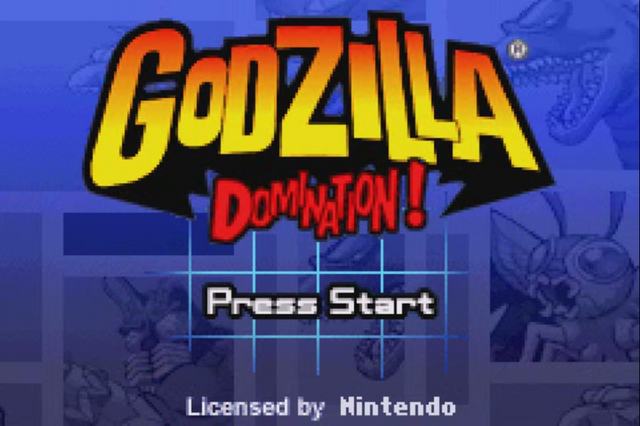 File:Gojira Godzilla Domination - Title Screen.png