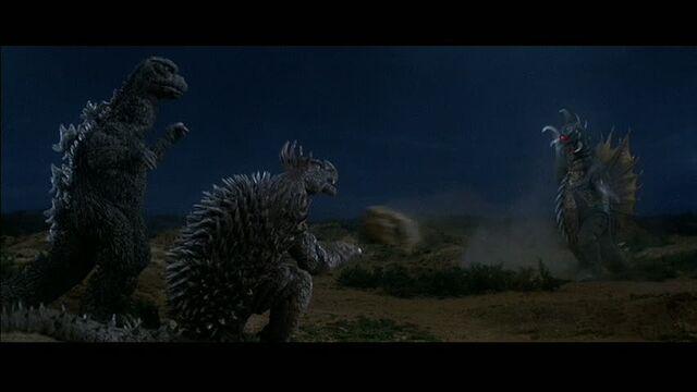 File:Godzilla and Anguirus play volleyball with Gigan.jpg