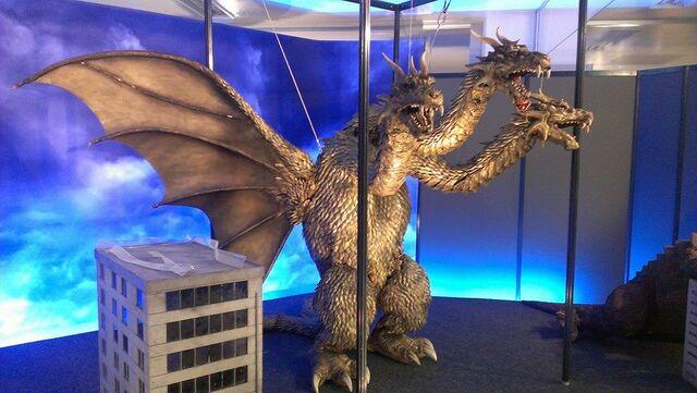 File:Great Godzilla 60 Years Special Effects Exhibition photo by Joseph Rouleau - SokogekiGhido 2.jpg