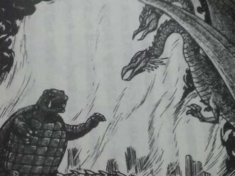 Gamera vs Two Head Bird