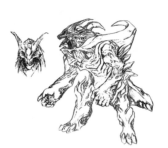 File:Concept Art - Godzilla 2000 Millennium - Orga 69.png